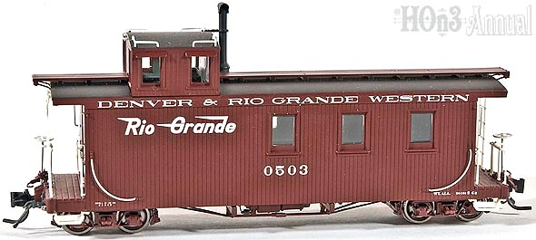 Blackstone Models D&RGW Long Caboose