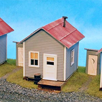 Alpine Scale Models Company Houses in HO