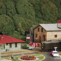 "East Broad Top's ""Company Square"" in HO scale"
