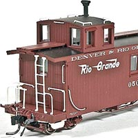 Blackstone Models D&RGW Long Caboose in HOn3