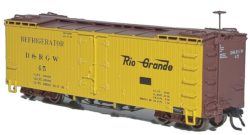 Rio Grande 30′ Refrigerator Car from Blackstone Models