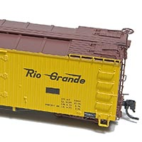 Rio Grande 30′ Refrigerator Car from Blackstone Models